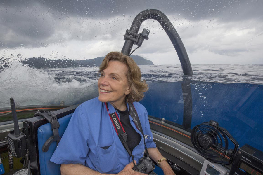 Portrait of Sylvia Earle, the recipient of the 2019 Thomas Jefferson Foundation Medal in Citizen Leadership. Photo taken by Kip Evans.