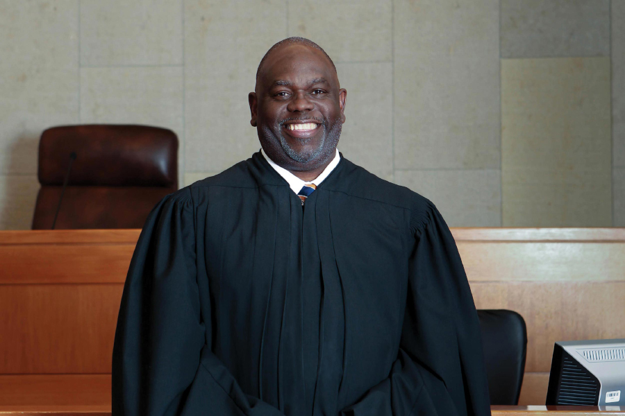 Portrait of Judge Carlton Reeves, the 2019 recipient of the Thomas Jefferson Foundation Medal in Law. Photo taken by Christina Cannon.